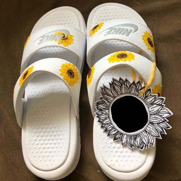 Never Worn Hand Painted Sunflower Nike